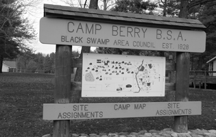 Camp Berry Sign